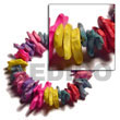 Cebu Island Multicolored Elastic Coco Chips Coco Bracelets Philippines Natural Handmade Products