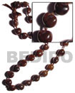 kukui seed nut necklace brown kukui nuts ribbon