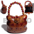 Cebu Island Collectible Handcarved Laminated Acacia Acacia Bags Philippines Natural Handmade Products