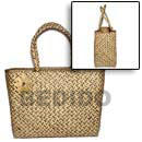 Cebu Island Pandan With Patching Bag Bags Philippines Natural Handmade Products