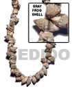 Gray Frog Shell Beads