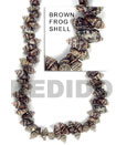Cebu Island Brown Frog Shell Beads