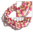 Cebu Island 2-3 Mm 5 Rows Coco Bracelets Philippines Natural Handmade Products