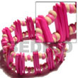 Cebu Island Pink Coco Stick Pink Coco Bracelets Philippines Natural Handmade Products