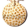 Cebu Island 50mm Round Coco Pendant Coco Pendant Philippines Natural Handmade Products