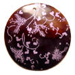 Cebu Island Maki-e art Embossed Hand Painted Pendants Jewelry japanese