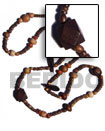 Cebu Island Long Bohemian Necklace Wood Long Bohemian Necklace Philippines Natural Handmade Products