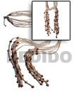 Cebu Island Coco and Shell Beads Scarf Necklace