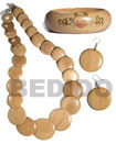 Natural Wood Jewelry Set Set