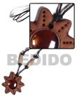 Cebu Island Clay Star Gemstone Tribal Clay Necklace